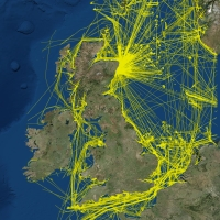 View the new UK 2015 national dataset of marine vessel traffic Image