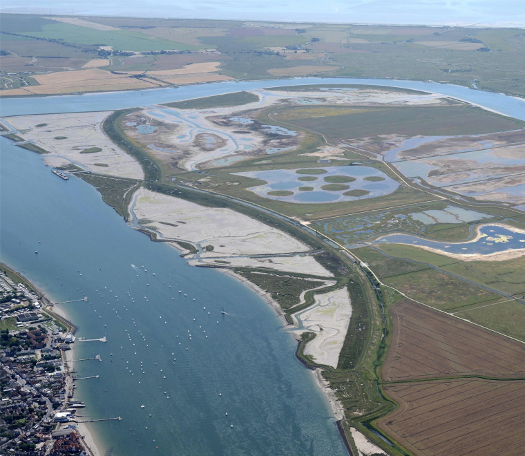 An aerial photo of Wallasea Island Wild Coast