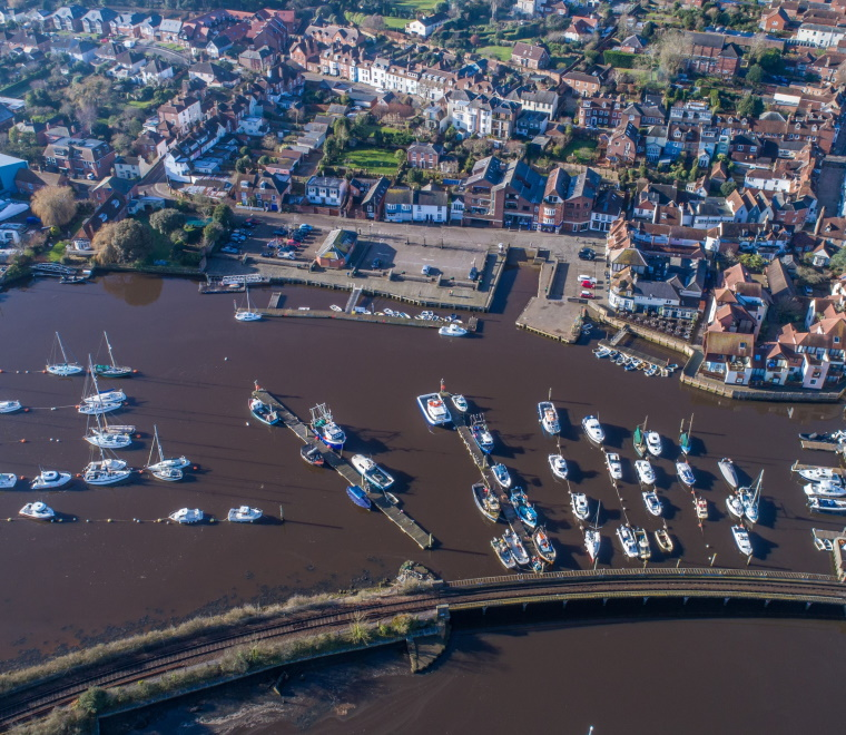 Lymington Harbour aerial