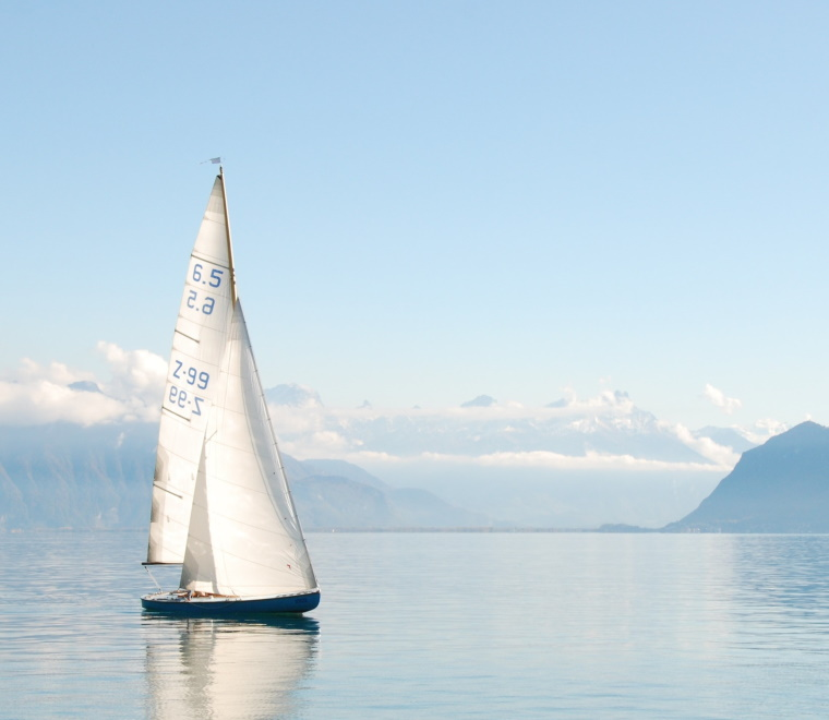 Sailboat on water